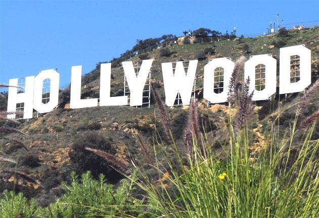 <p>The Hollywood sign</p>