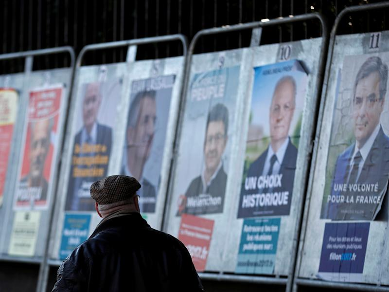French voters have been flooded with fake news reports days before they are due to vote in the election's first round: Reuters