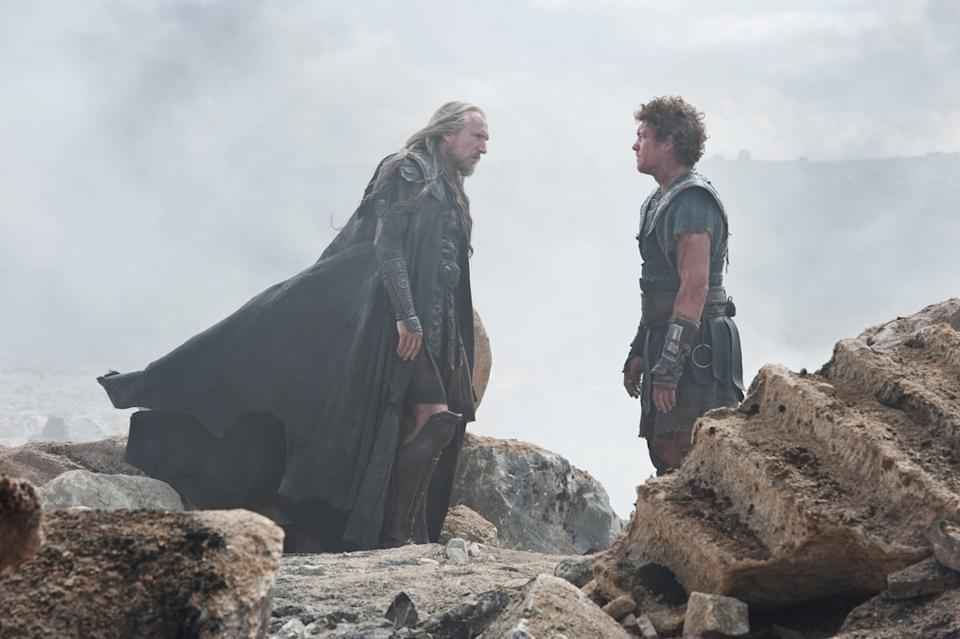 "Ralph Fiennes and Sam Worthington in Warner Bros. Pictures' <a href=""http://movies.yahoo.com/movie/wrath-of-the-titans/"" data-ylk=""slk:Wrath of the Titans"" class=""link rapid-noclick-resp"">Wrath of the Titans</a> - 2012"