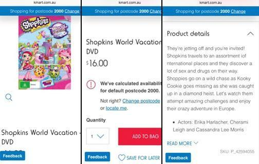Shoppers Have Noticed That The Shopkins World Vacation DVD With A General Viewing Classification