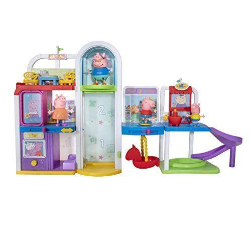 """<p><strong>Peppa Pig</strong></p><p>amazon.com</p><p><strong>$39.12</strong></p><p><a href=""""https://www.amazon.com/dp/B084ZXZVHM?tag=syn-yahoo-20&ascsubtag=%5Bartid%7C10070.g.34428616%5Bsrc%7Cyahoo-us"""" rel=""""nofollow noopener"""" target=""""_blank"""" data-ylk=""""slk:SHOP NOW"""" class=""""link rapid-noclick-resp"""">SHOP NOW</a></p><p>Easy to build and break down, the Peppa Pig shopping mall set is perfect for kids who can't get enough of the show. The three-story play set includes a photo booth, dressing room, slide and ball pit, and of course, Peppa Pig, George, Daddy Pig, and Mummy Pig figures. <em>Ages 3+</em></p>"""