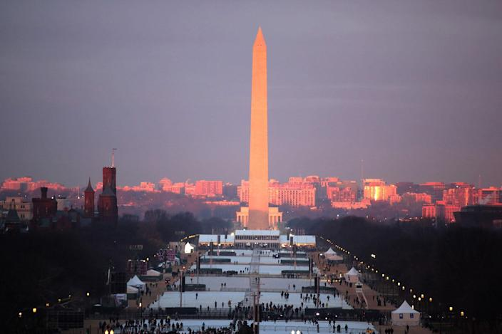 <p>The Washington Monument is seen from the West Front of the U.S. Capitol on January 20, 2017 in Washington, DC. In today's inauguration ceremony Donald J. Trump becomes the 45th president of the United States. (Photo: Scott Olson/Getty Images) </p>