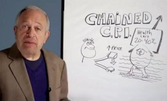 Robert Reich — former secretary of labor, and a fine illustrator to boot — explains the concept of chained CPI.