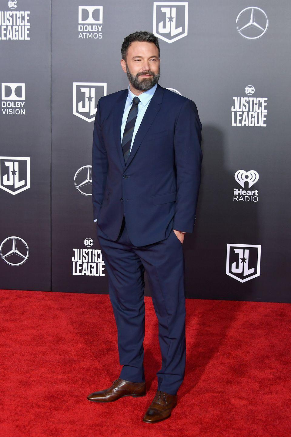 "<p>The actor first went to rehab in 2001 and later opened up about sobriety on his <a href=""https://www.facebook.com/benaffleck/posts/1425085557565867"" rel=""nofollow noopener"" target=""_blank"" data-ylk=""slk:Facebook"" class=""link rapid-noclick-resp"">Facebook</a> page in March 2017.</p><p>'I have completed treatment for alcohol addiction; something I've dealt with in the past and will continue to confront,' he wrote. 'I want to live life to the fullest and be the best father I can be.' </p><p>In February 2020, the actor told <a href=""https://www.goodmorningamerica.com/culture/video/ben-affleck-shares-moved-struggles-alcohol-part-69095953"" rel=""nofollow noopener"" target=""_blank"" data-ylk=""slk:ABC News"" class=""link rapid-noclick-resp"">ABC News</a>: 'I was sober for a couple of years and then I thought, ""You know, I want to just drink like a normal person and I want to have wine at dinner."" And I was able to for about eight years.' </p><p>After years of struggling with his addiction and divorce from Jennifer Garner in 2018, he also the <a href=""https://www.nytimes.com/2020/02/18/movies/ben-affleck.html"" rel=""nofollow noopener"" target=""_blank"" data-ylk=""slk:New York Times"" class=""link rapid-noclick-resp"">New York Times</a> in 2020 how fatherhood has taught him to be sober 'during these formative years for my kids'. </p>"