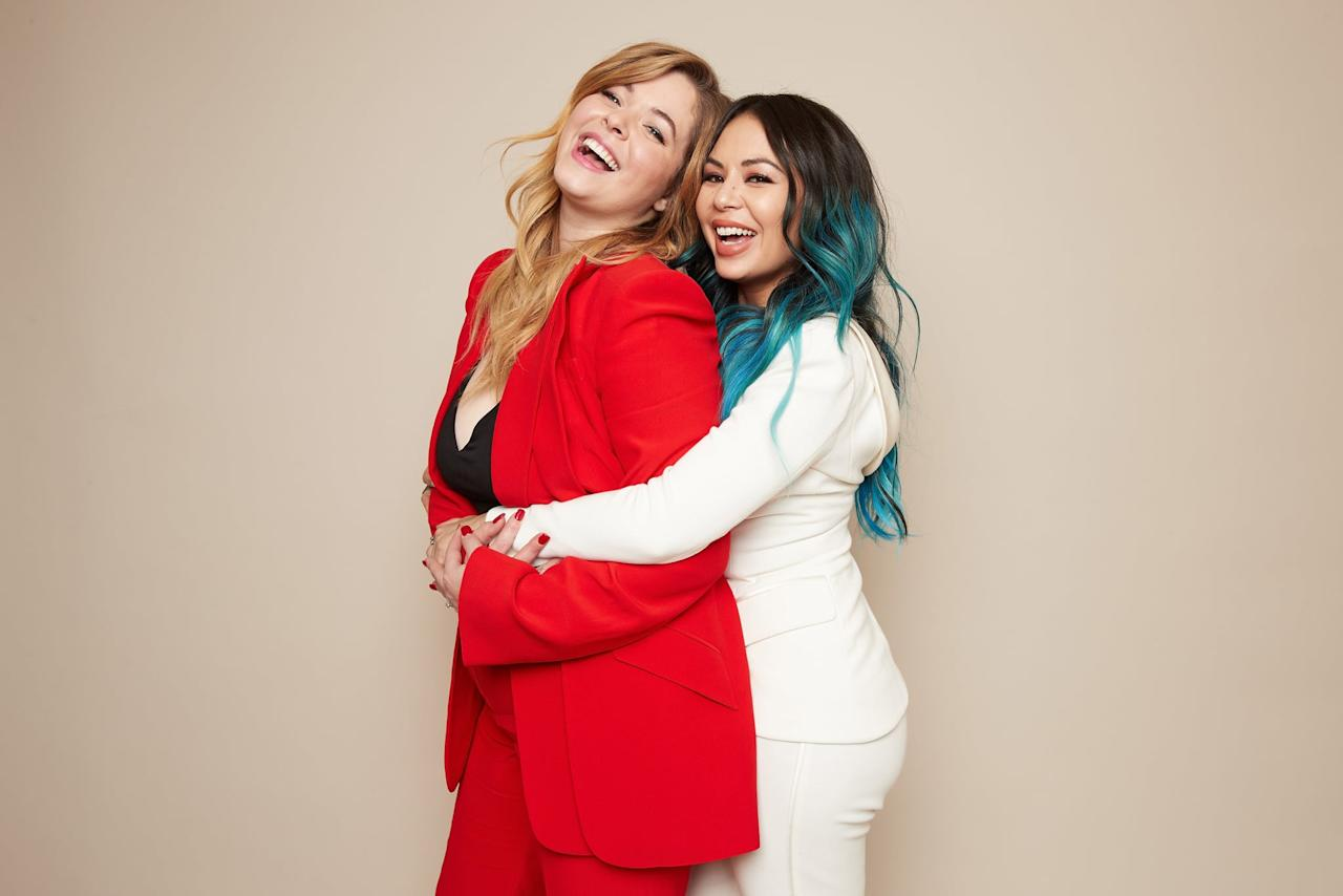 """<p>The two first met on the set of <strong>Pretty Little Liars</strong> and have developed a real-life friendship offscreen. They even teamed up for the <strong>PLL</strong> spinoff <strong>The Perfectionists </strong>in 2019. """"Sasha and I have always been so close,"""" <a href=""""https://www.popsugar.com/entertainment/Janel-Parrish-Interview-About-PLL-Perfectionists-46368293"""" class=""""ga-track"""" data-ga-category=""""Related"""" data-ga-label=""""http://www.popsugar.com/entertainment/Janel-Parrish-Interview-About-PLL-Perfectionists-46368293"""" data-ga-action=""""In-Line Links"""">Janel told POPSUGAR about their friendship</a><em></em>. """"When we had scenes together in <strong>PLL</strong>, we were always fighting. So [in <strong>The Perfectionists</strong>], it was really fun to explore what a friendship looks like between Mona and Alison. It came pretty easily to us because we are really close in real life.""""</p>"""
