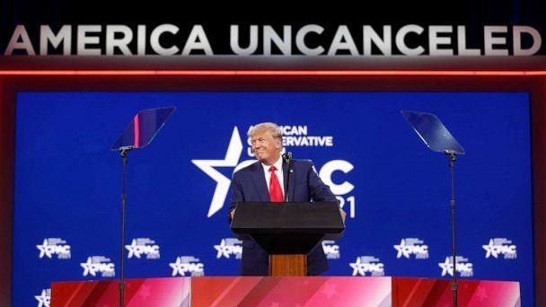 PHOTO: Former U.S. President Donald Trump speaks at the Conservative Political Action Conference (CPAC) in Orlando, Fla. Feb. 28, 2021. (Octavio Jones/Reuters)