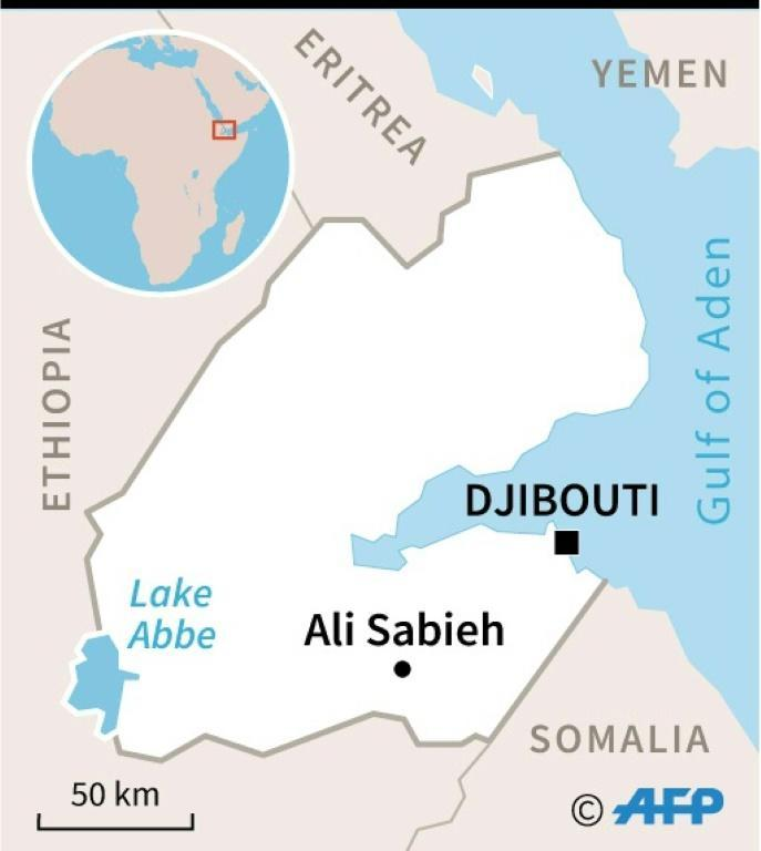 Map of Djibouti where protests have occurred after the detention of a military officer who denounced corruption (AFP Photo/Thomas SAINT-CRICQ)