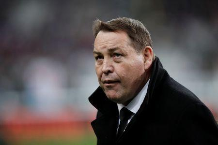 New Zealand head coach Steve Hansen before the match. REUTERS/Benoit Tessier
