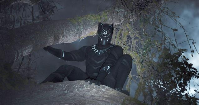 Chadwick Boseman in costume in <em>Black Panther</em>. (Photo: Walt Disney Studios Motion Pictures/courtesy Everett Collection)