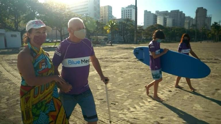 Brazilian parasurf champion Malu Mendes was born with celebral palsy but has become a surfing star, thanks to a special school run at Santos, near Sao Paulo, Brazil