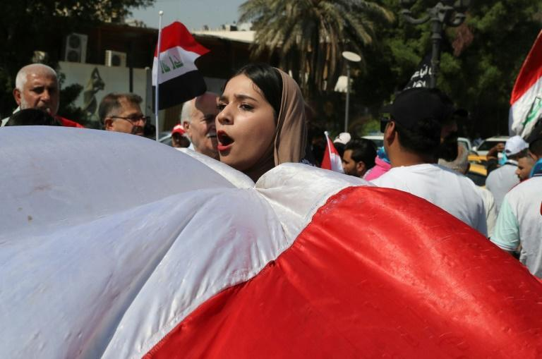 Iraqis marked the second anniversary of the 2019 popular uprising that denounced graft, unemployment and crumbling public services (AFP/Sabah ARAR)