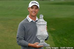 Australian Matt Jones chipped in on the only hole of sudden death to win the Shell Houston Open in Humble, Texas. It's his first PGA TOUR title