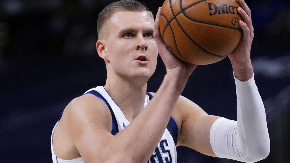 Kristaps Porzingis has endured some early struggles this season for the Mavericks, but his fantasy game has remained solid. (Photo by AJ Mast/NBAE via Getty Images)