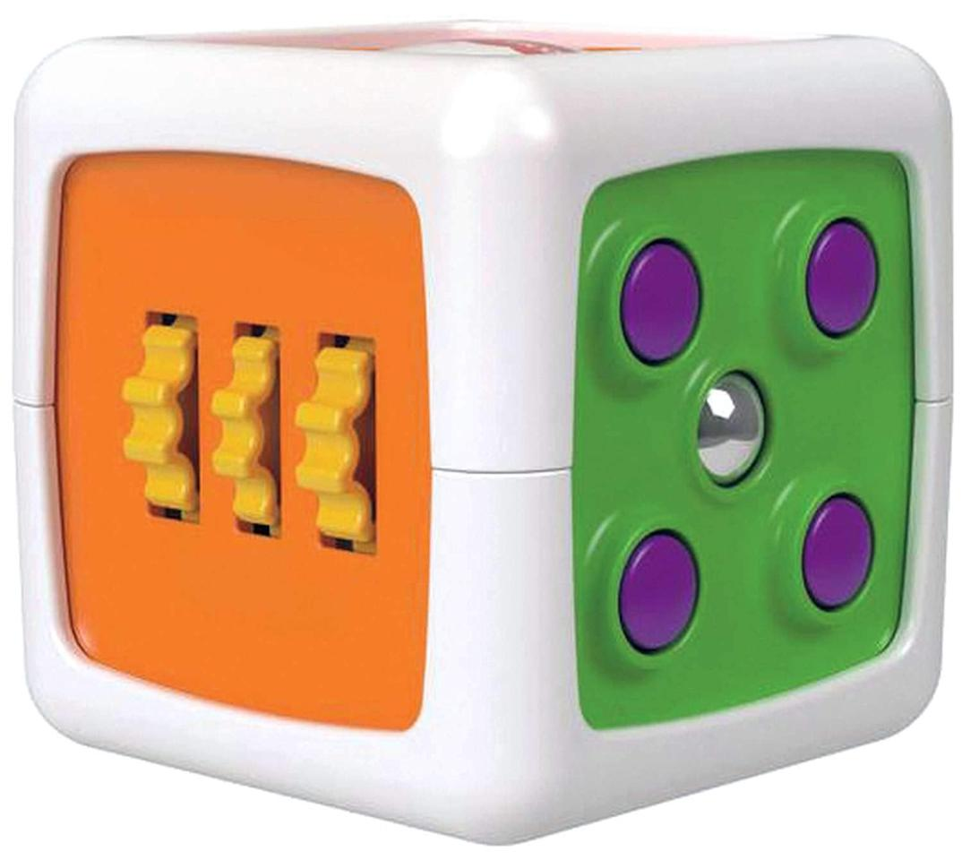 """<p>If you're looking for the perfect fidget toy for your baby or toddler, the <a href=""""https://www.popsugar.com/buy/Fisher-Price-My-First-Fidget-Cube-463462?p_name=Fisher-Price%20My%20First%20Fidget%20Cube&retailer=amazon.com&pid=463462&price=11&evar1=moms%3Aus&evar9=46321064&evar98=https%3A%2F%2Fwww.popsugar.com%2Fphoto-gallery%2F46321064%2Fimage%2F46321077%2FFisher-Price-My-First-Fidget-Cube&list1=toys%2Ckids%2Clittle%20kids%2Ckid%20shopping&prop13=api&pdata=1"""" rel=""""nofollow"""" data-shoppable-link=""""1"""" target=""""_blank"""" class=""""ga-track"""" data-ga-category=""""Related"""" data-ga-label=""""https://www.amazon.com/Fisher-Price-My-First-Fidget-Cube/dp/B077P7M1ZM"""" data-ga-action=""""In-Line Links"""">Fisher-Price My First Fidget Cube</a> ($11) is the perfect fit. It has six sides of play with a variety of activities. The cube is sized just right for babies to grasp and explore the different textures, colors, and sounds. </p>"""
