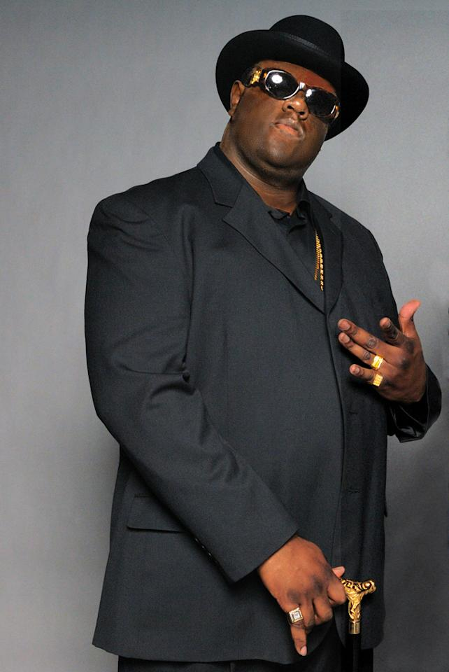 """<a href=""""http://movies.yahoo.com/movie/contributor/1809108145"""">Jamal Woolard</a> as Christopher Wallace in Fox Searchlight's <a href=""""http://movies.yahoo.com/movie/1810008210/info"""">Notorious</a> - 2008"""