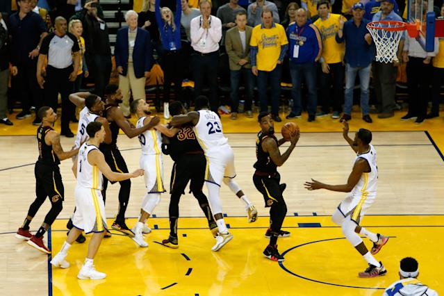There's a reason Draymond Green was able to move this far across the paint. (Getty Images)