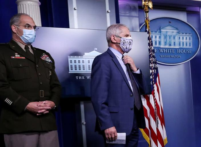 FILE PHOTO: White House coronavirus task force holds a briefing at the White House in Washington