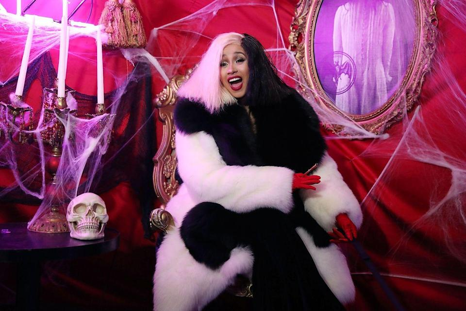 <p>Cruella has an iconic look, but Cardi's personality shines through and makes this costume completely her own. </p>