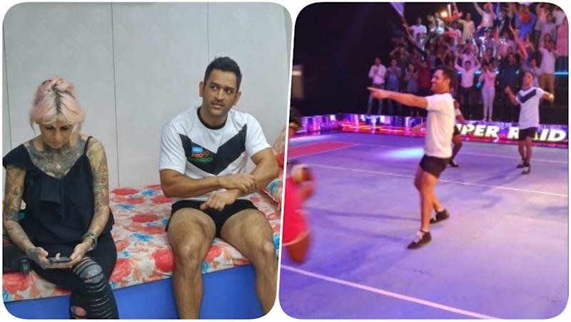 MS Dhoni Shoots a Promo Video for Pro Kabbadi League 2018 in Mumbai (See Pics)