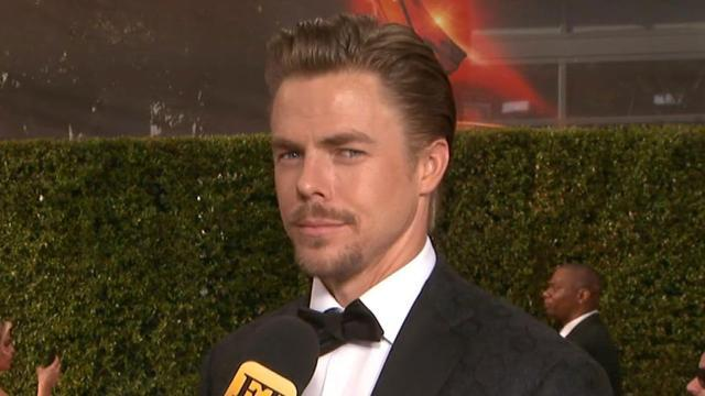 EXCLUSIVE: Derek Hough Blames Sister Julianne For Making Them Late to the Emmys, Addresses Ryan Lochte Protest