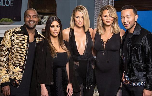 Kimye joined John Legend and Chrissy Teigen on the show. Photo: Kocktails with Khloe