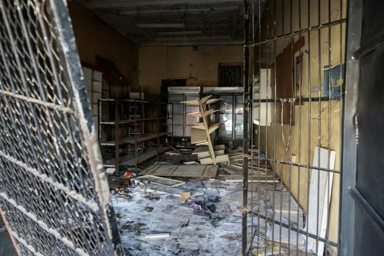 Some shops were completely looted