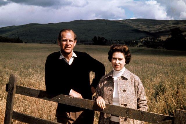 Duke and Queen at Balmoral