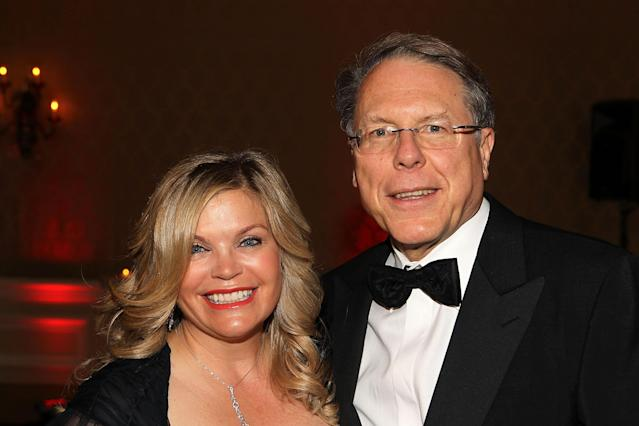National Rifle Association executive director Wayne LaPierre and his wife, Susan, in 2012. (Photo: Paul Morigi/Getty Images for Larry King Cardiac Foundation)