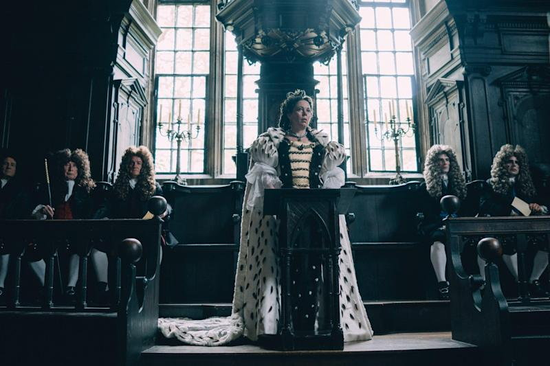 In character: Olivia Colman as Queen Anne in The Favourite