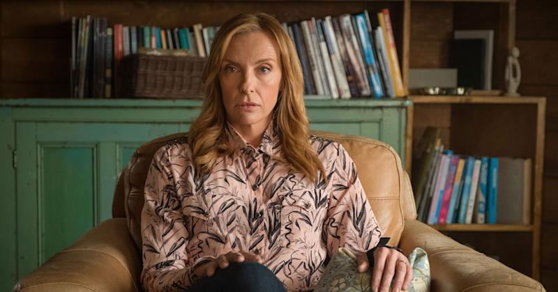 Toni Collette as Wanderlust's therapist Joy (BBC Pictures)
