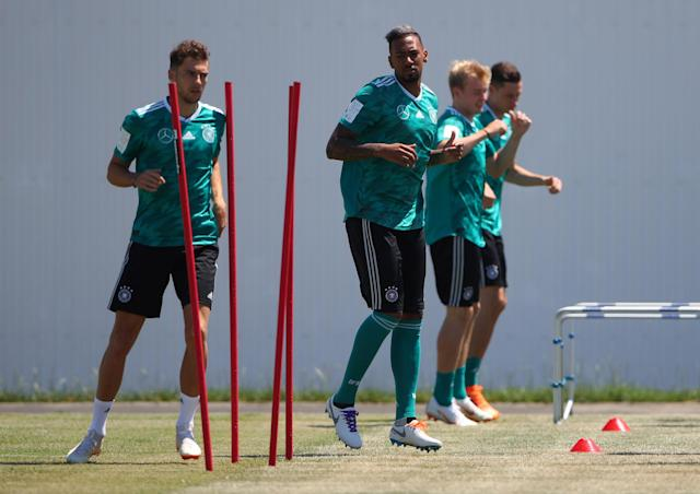 Soccer Football - World Cup - Germany Training - Sochi, Russia - June 20, 2018 Germany's Jerome Boateng during training REUTERS/Hannah McKay