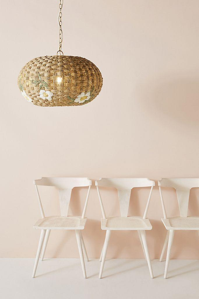 You'll smile every time you see this rattan pendant—especially since it's on sale. (Photo: Anthropologie)