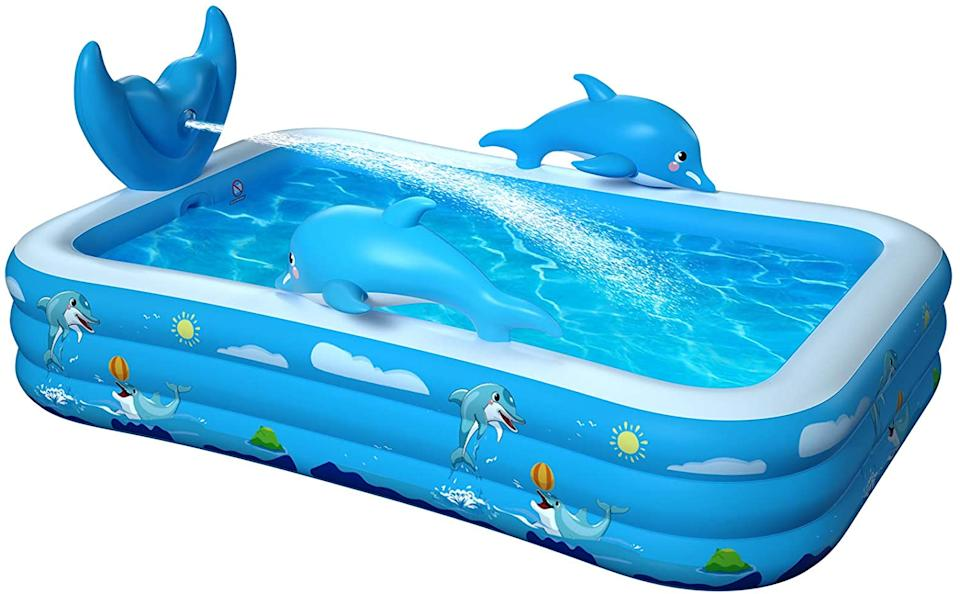 The pool is inflated; the price is anything but. (Photo: Amazon)