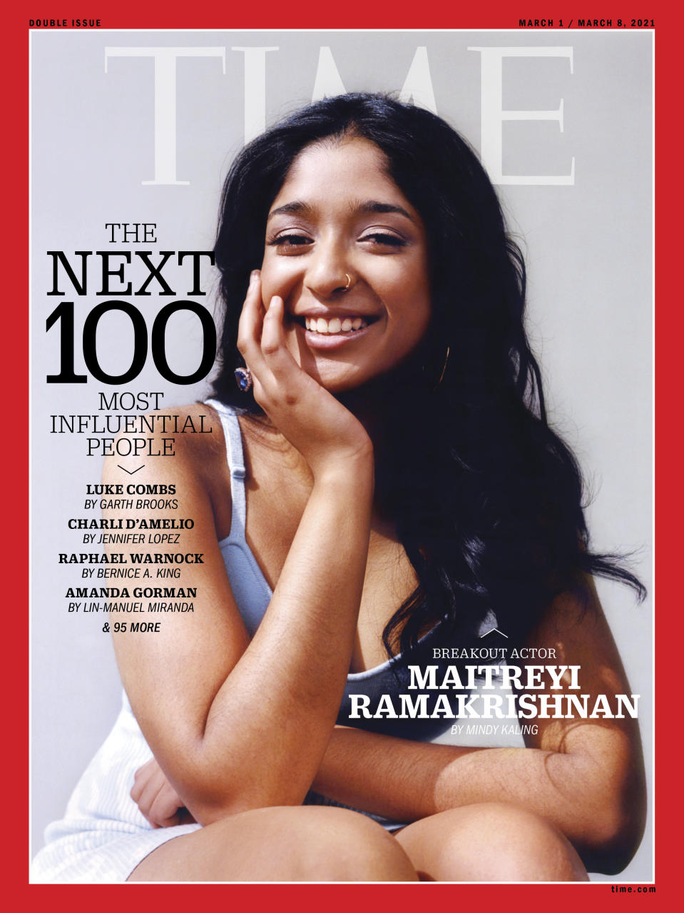 Maitreyi Ramakrishnan TIME100 Next cover (Photograph by Lindsay Ellary for TIME)