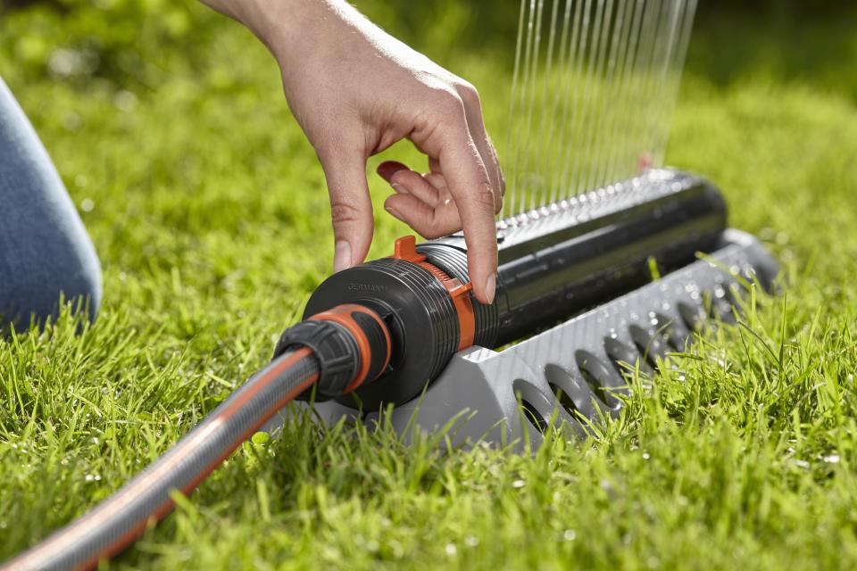 Lawn sprinkler from Canadian Tire for watering the lawn