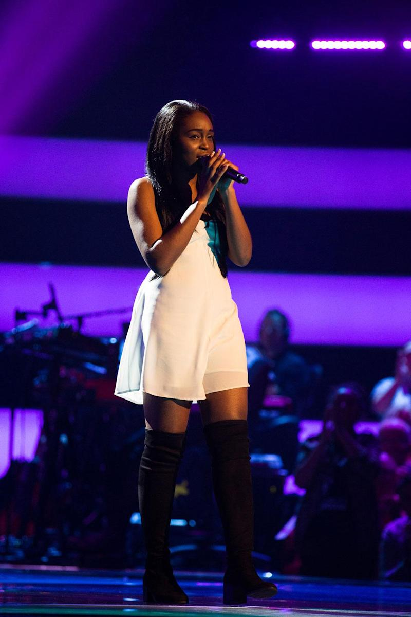Spotlight: Backing singer Debbie Aramide is looking to sing at the front (ITV)