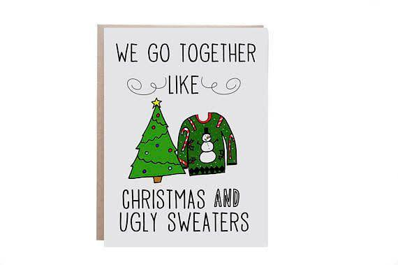 "<i>Buy it from <a href=""https://www.etsy.com/listing/477709468/funny-christmas-card-ugly-christmas"" rel=""nofollow noopener"" target=""_blank"" data-ylk=""slk:WaterStreetDesign on Etsy"" class=""link rapid-noclick-resp"">WaterStreetDesign on Etsy</a>&nbsp;for&nbsp;$3.75.</i>"