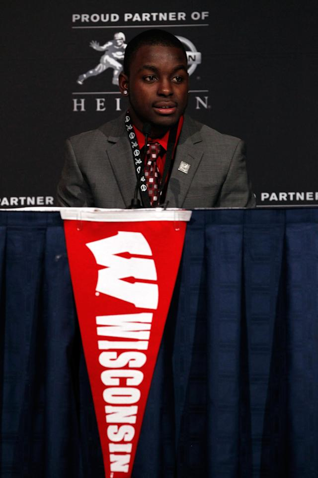 NEW YORK, NY - DECEMBER 10: Heisman Trophy finalist Montee Ball of the Wisconsin Badger speaks during a press conference at The New York Marriott Marquis on December 10, 2011 in New York City. (Photo by Jeff Zelevansky/Getty Images)