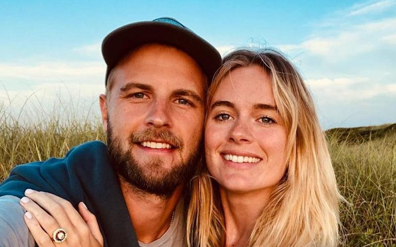 The pair announced their engagement on Instagram - PA
