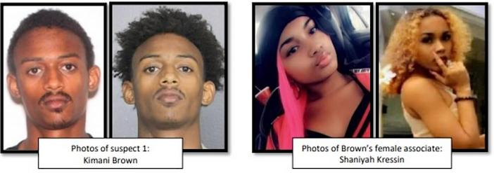 Fort Lauderdale police identified Kimani Brown (left) and Shaniyah Kressin (right) as the shooter and accomplice, respectively, behind a fatal shooting near the Broward Central Bus Terminal Cops in October.