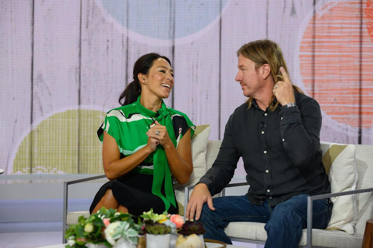 """How does Joanna Gaines feel about husband Chip's longer locks? """"It's grown on me,"""" she said on TODAY. (Nathan Congleton / TODAY)"""