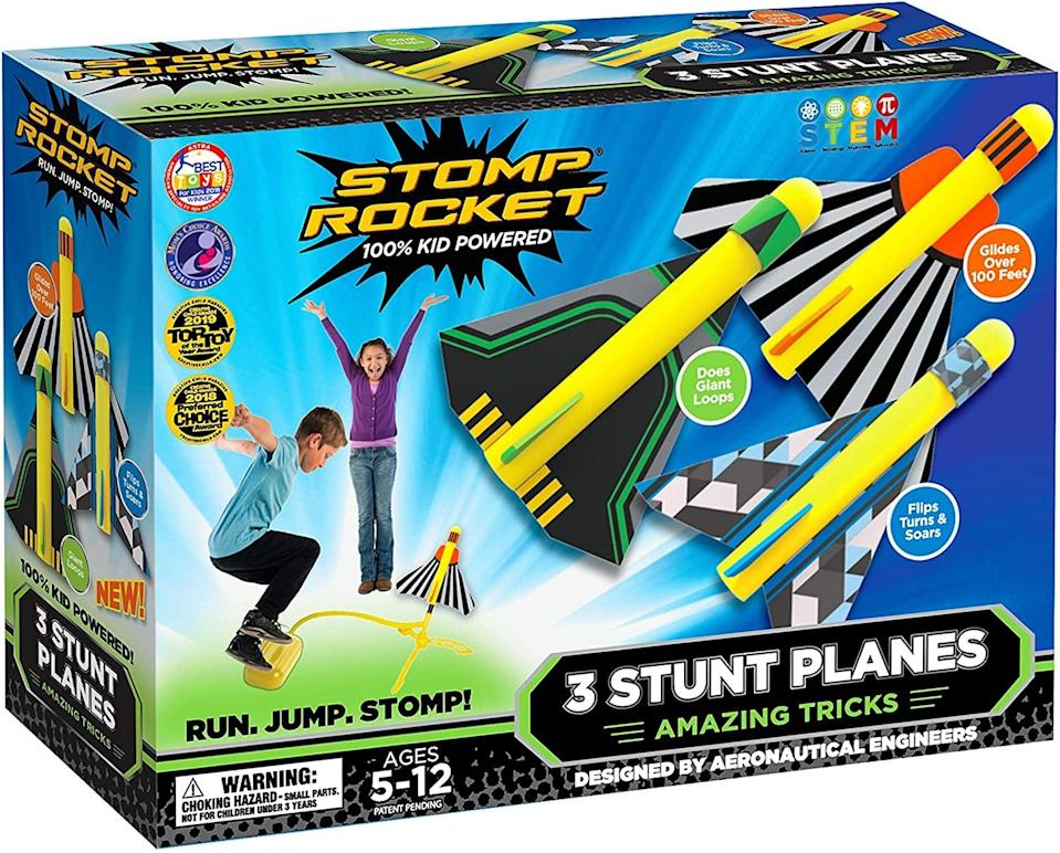 <p>These <span>Stomp Rocket Stunt Planes</span> ($30) will always be fun. They're great for summer birthdays.</p>