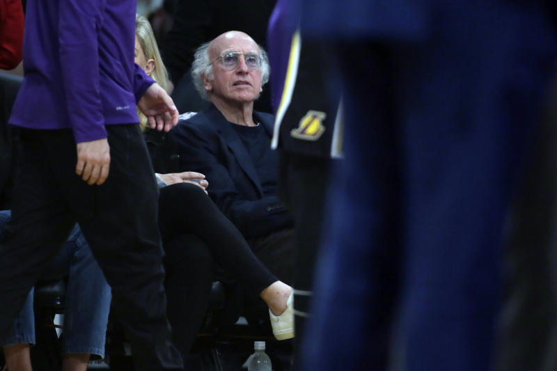 Larry David is a big Jets fan and had good draft advice for the team. (AP Photo/Alex Gallardo)