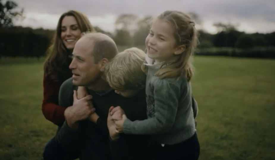 Kate, Louis and Charlotte huge Prince William