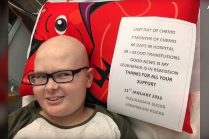 Declan endured seven-months of chemotherapy and more than 30 blood transufsions during his battle.