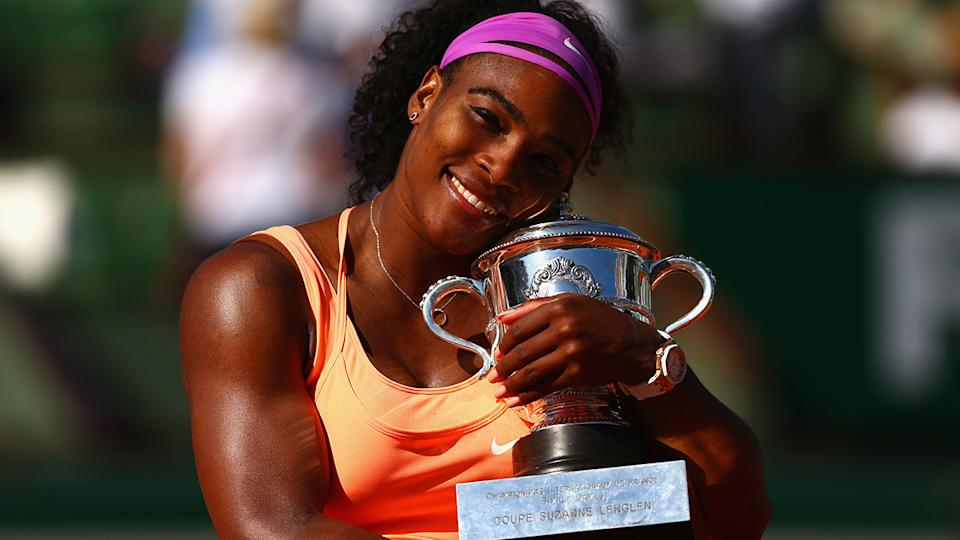 Serena Williams, pictured here after winning the French Open in 2015.