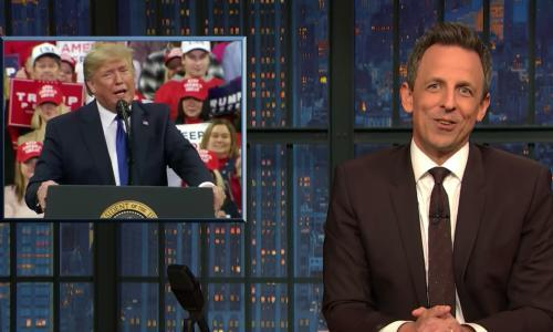 Seth Meyers on Trump-Parnas photos: 'A mall Santa for wannabe Goodfellas'