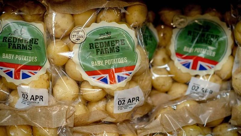 The labels will be removed from several popular fruit and veg items
