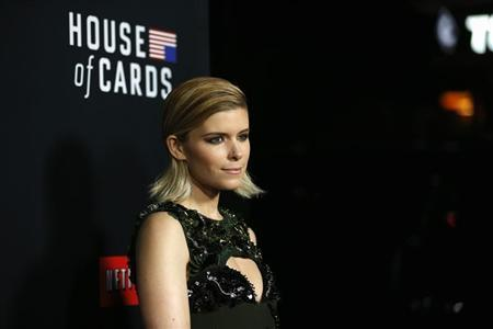"Cast member Mara poses at the premiere for the second season of the television series ""House of Cards"" at the Directors Guild of America in Los Angeles"