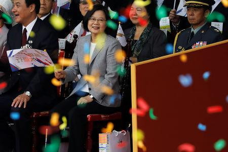 Taiwan's President Tsai Ing-wen attends National Day celebrations in Taipei, Taiwan October 10, 2018. REUTERS/Tyrone Siu